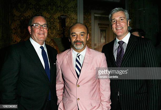 Ronald Frasch President Chief merchandising officer Saks Fifth Avenue Designer Christian Louboutin and Larry Bruce General Menager of Saks Fifth...