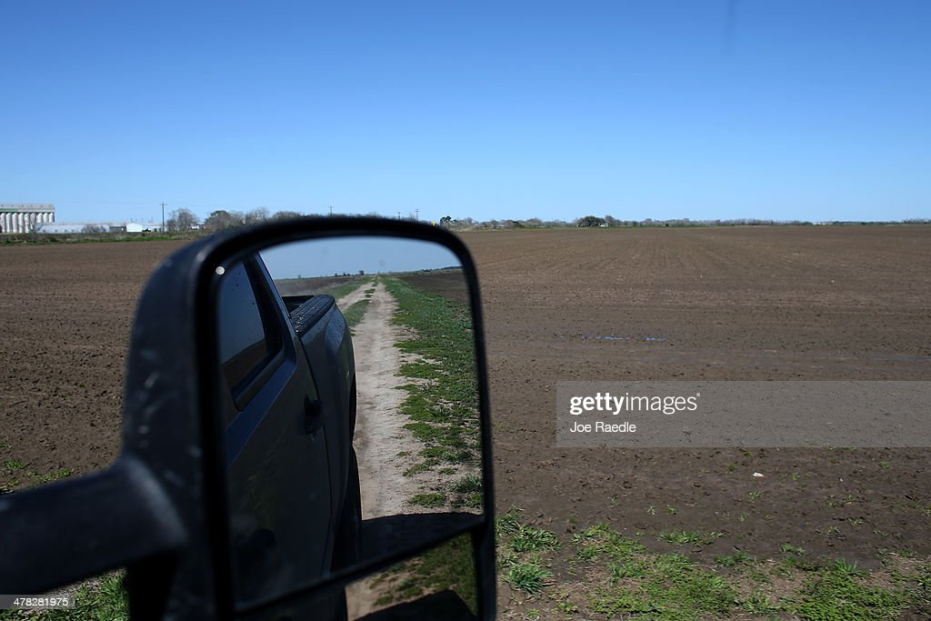 Ronald Gertson, a fourth generation rice farmer, drives his pickup past rice fields that may not be planted this year due to a severe water shortage on March 12, 2014 in Lissie, Texas. Recently the Texas Commission on Environmental Quality agreed to cut off water deliveries to most rice farmers in the Lower Colorado River Basin for the third straight year as the lakes in central Texas are only 38 percent full.