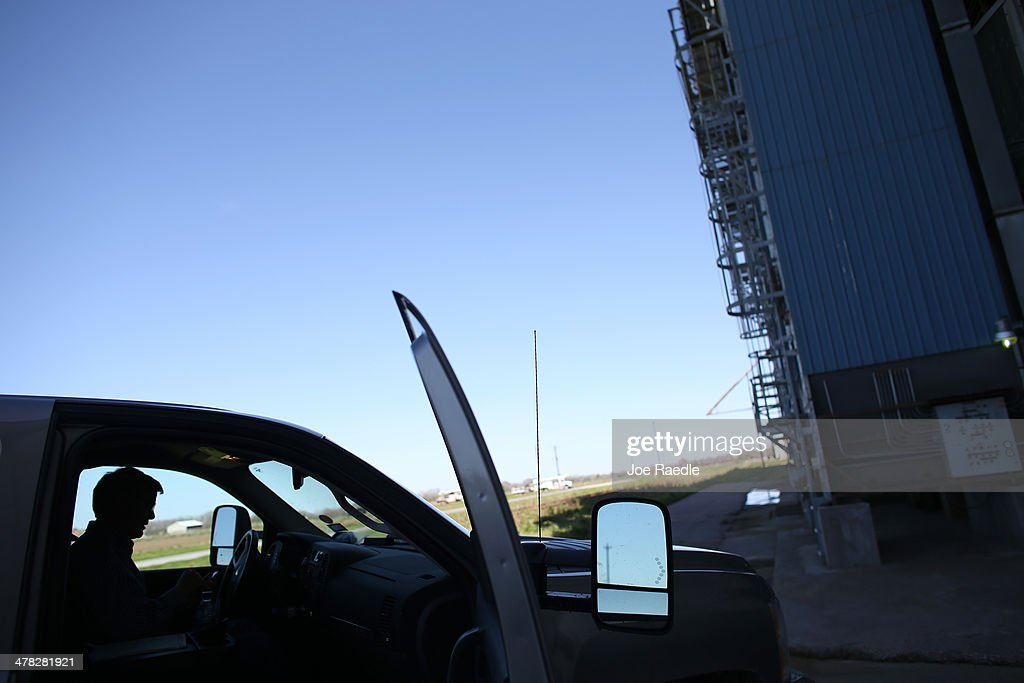 Ronald Gertson, a fourth generation rice farmer, sits in his pickup truck next to a closed rice storage facility on March 12, 2014 in Lissie, Texas. Due to the severe drought afflicting the region, the facility closed as farmers like Gertson do not have enough water to grow a sufficient crop. Recently the Texas Commission on Environmental Quality agreed to cut off water deliveries to most rice farmers in the Lower Colorado River Basin for the third straight year as the lakes in central Texas are only 38 percent full.