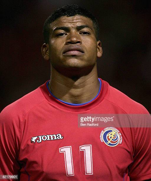 Ronald Gomez of Costa Rica during the World Cup 2006 Qualifying match between Costa Rica and Mexico on February 9 2005 at the Ricardo Saprissa...