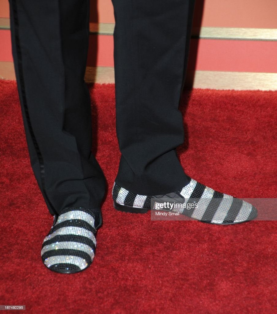 Ronald Isley (shoe detail) arrives at the Soul Train Awards 2013 at the Orleans Hotel & Casino on November 8, 2013 in Las Vegas, Nevada.