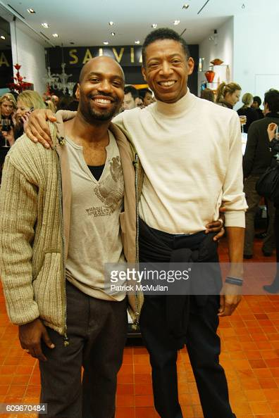 Ronald K Brown and b Michael attend NEW YORKERS FOR CHILDREN SALVIATI CHARITY BENEFIT at Salviati on December 13 2007 in New York City