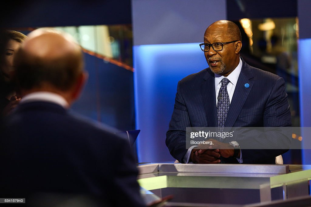 Ronald Kirk, co-chairman of the Clean and Safe Energy Coalition, speaks during a Bloomberg Television interview in New York, U.S., on Wednesday, May 25, 2016. Kirk weighed in on the value and safety of nuclear power. Photographer: Chris Goodney/Bloomberg via Getty Images