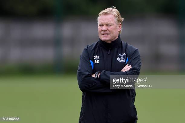 Ronald Koeman during an Everton FC training session at USM Finch Farm on August 2 2017 in Halewood England