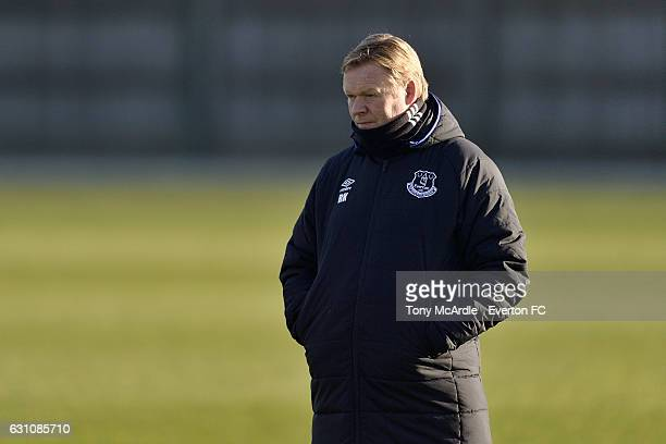 Ronald Koeman during the Everton FC training session at Finch Farm on January 5 2017 in Halewood England