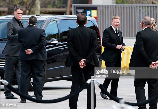 Ronald Koeman during the Johan Cruyff in memoriam ceremony celebrated in the Camp Nou on march 29 2016