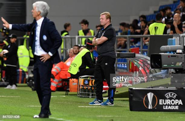 Ronald Koeman head coach of Everton during the UEFA Europa League group E match between Atalanta and Everton FC at Stadio Citta del Tricolore on...