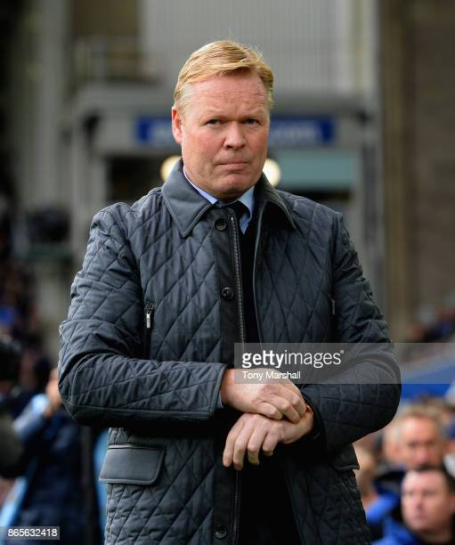 Ronald Koeman Manager of Everton during the Premier League match between Everton and Arsenal at Goodison Park on October 22 2017 in Liverpool England
