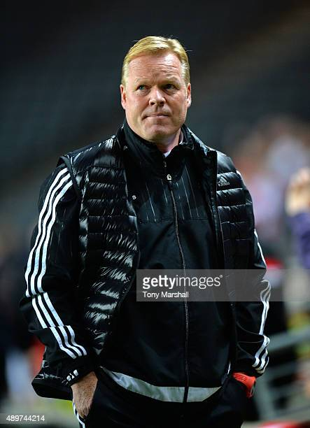 Ronald Koeman Manager of Southampton during the Capital One Cup third round match between MK Dons and Southampton at Stadium mk on September 23 2015...