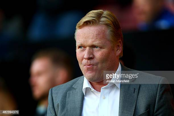 Ronald Koeman manager of Southampton looks on ahead of the UEFA Europa League Third Qualifying Round 1st Leg match between Southampton and Vitesse at...