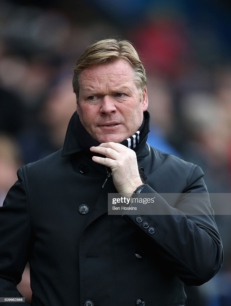 <a gi-track='captionPersonalityLinkClicked' href=/galleries/search?phrase=Ronald+Koeman&family=editorial&specificpeople=652522 ng-click='$event.stopPropagation()'>Ronald Koeman</a> manager of Southampton looks on prior to the Barclays Premier League match between Swansea City and Southampton at Liberty Stadium on February 13, 2016 in Swansea, Wales.