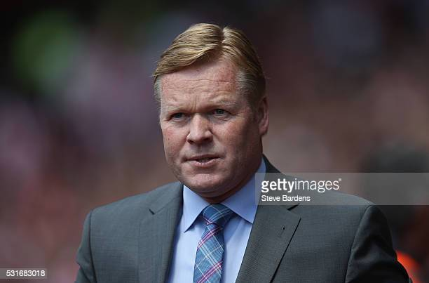 Ronald Koeman manager of Southampton prior to the Barclays Premier League match between Southampton and Crystal Palace at St Mary's Stadium on May 15...