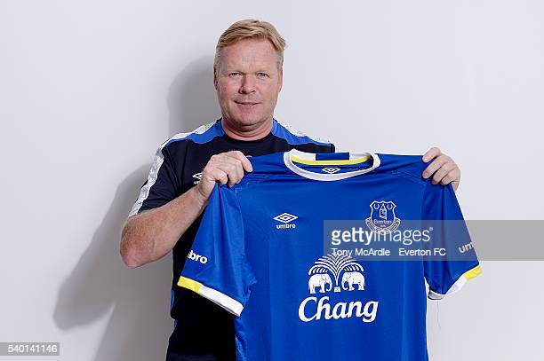 Ronald Koeman poses for a photograph after becoming the manager of Everton Football Club on June 14 2016