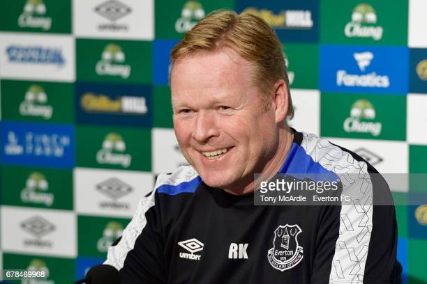 Ronald Koeman speaks to the press during the Everton FC press conference at USM Finch Farm on May 4 2017 in Halewood England