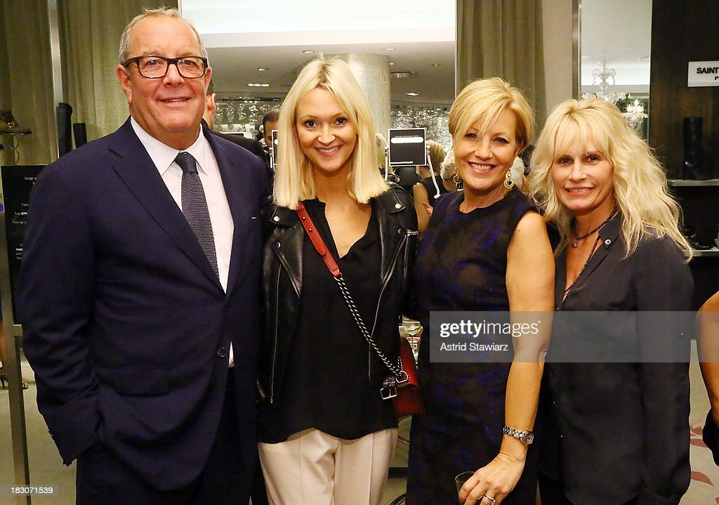 Ronald L. Frasch, Zanna Roberts Rassi, Nancy Berger Cardone and Lisa Capparelli attend Marie Claire's Shoes First Shopping Event At Saks Fifth Avenue on October 3, 2013 in New York City.