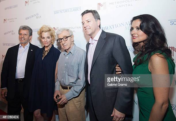 Ronald LChez Parker PoseyWoody Allen Michael P Rose and Monica Rose attend the Chicago premiere of 'Irrational Man' at Bellweather Meeting House...