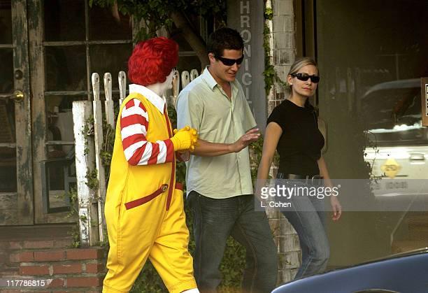 Ronald McDonald Andrew Firestone Jen Schefft in front of the Ivy