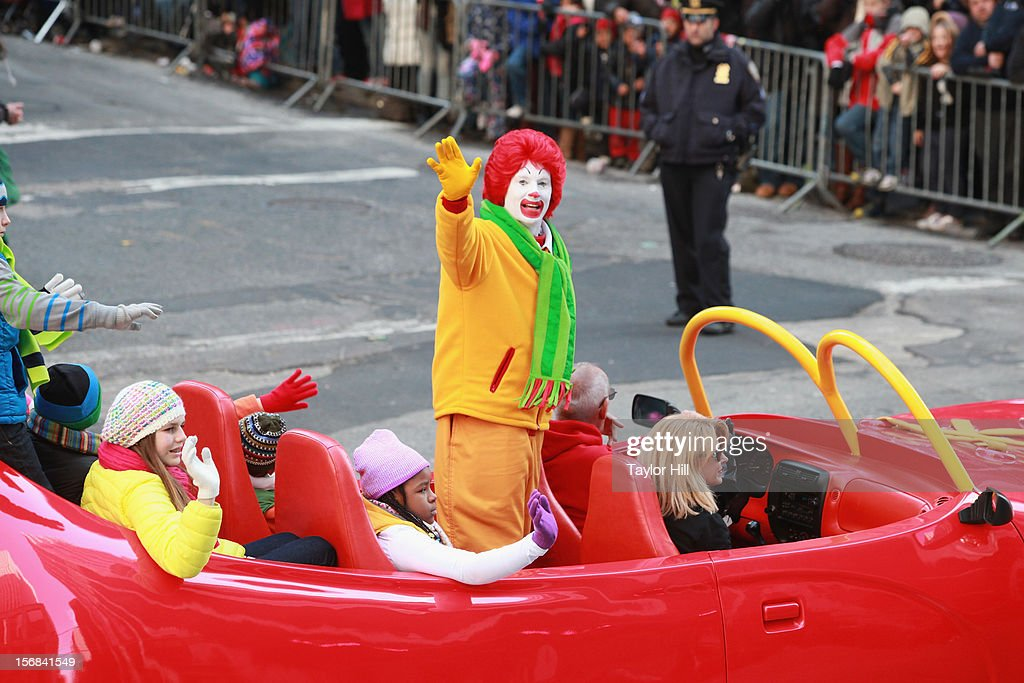 Ronald McDonald attends the 86th Annual Macy's Thanksgiving Day Parade on November 22, 2012 in New York City.
