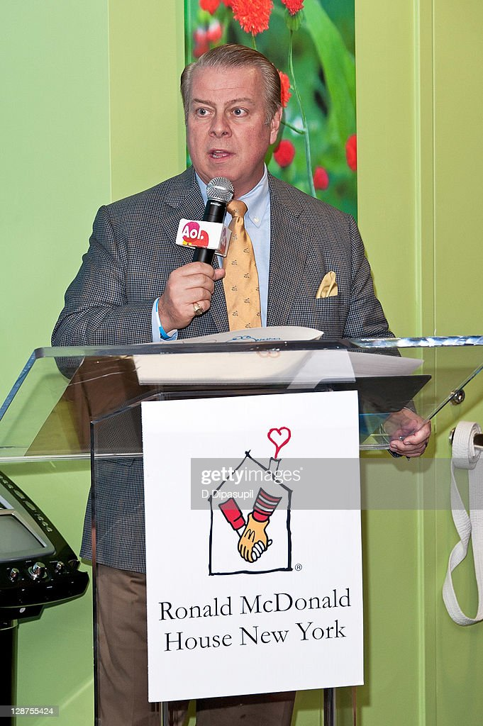 Ronald McDonald House CEO Bill Sullivan speaks at the unveiling of the AOL Media Room at the Ronald McDonald House on October 7, 2011 in New York City.