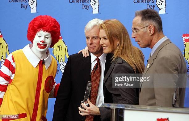 Ronald McDonald President and COO of McDonald's Corp Mike Roberts The Duchess of York Sarah Ferguson and CEO of Ronald McDonald House Charities Ken...