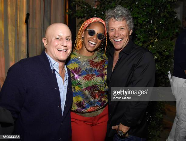 Ronald O Perelman Alicia Keys and Jon Bon Jovi attend Apollo in the Hamptons 2017 hosted by Ronald O Perelman at The Creeks on August 12 2017 in East...