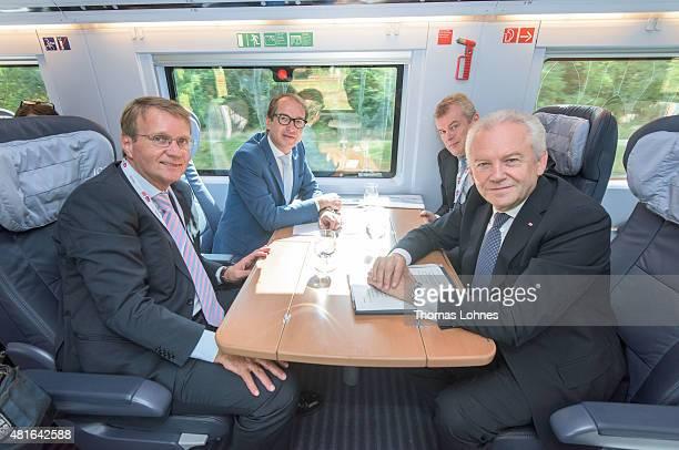 Ronald Profalla of Deutsche Bahn Transport and Digital Technologie Mininister Alexaner Dobrindt Siemens AG Jochen Eickholt and Deutsche Bahn CEO...