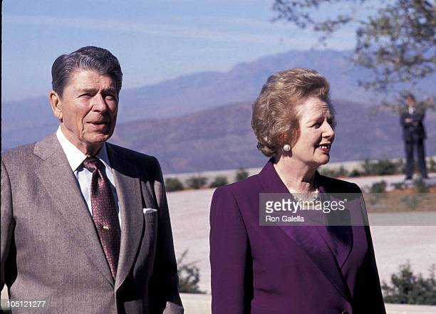 Ronald Reagan and Margaret Thatcher during Ronald Reagan Visits The Ronald Reagan Presidential Library at Ronald Reagan Presidential Library in Simi...