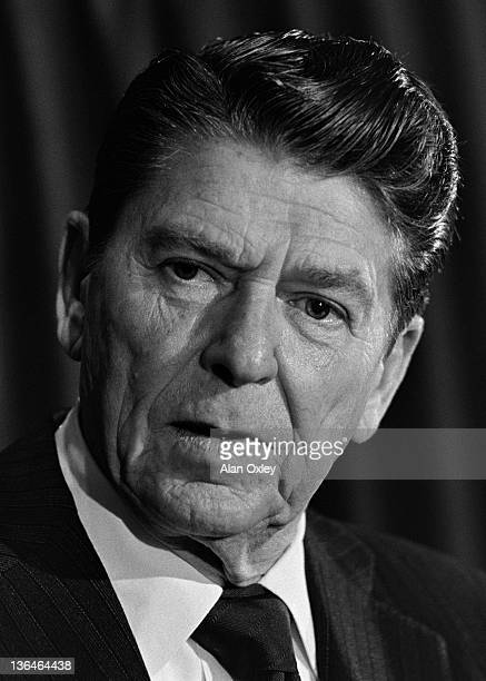 Ronald Reagan photographed in Miami just months before he became the 40th president of the US 12th April 1980 He served two four yearterms