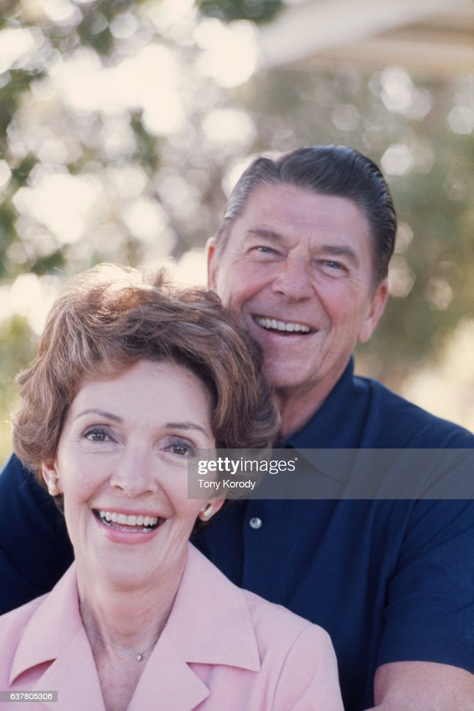 Ronald Reagan relaxes with his wife Nancy at their Pacific Palisades home following his defeat by Gerald Ford for the presidential nomination.
