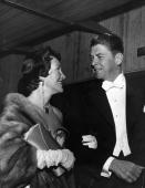 Ronald Reagan with his wife Nancy on the eve of the elections in America which voted this former film star into the Oval Office as President of the...