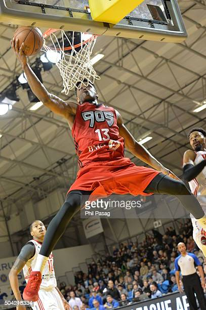 Ronald Roberts Jr #13 of the Raptors 905 goes to the basket against the Rio Grande Valley Vipers during Day Four of the 2016 NBA DLeague Showcase on...