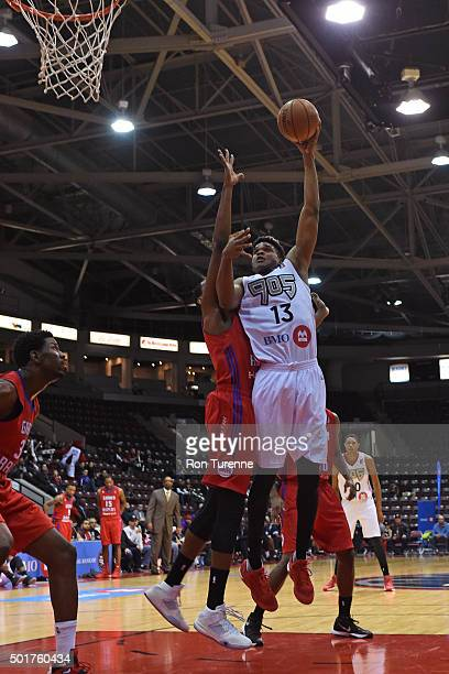 Ronald Roberts Jr #13 of the Raptors 905 shoots the ball during a game against the Grand Rapids Drive at the Hershey Centre on December 16 2015 in...