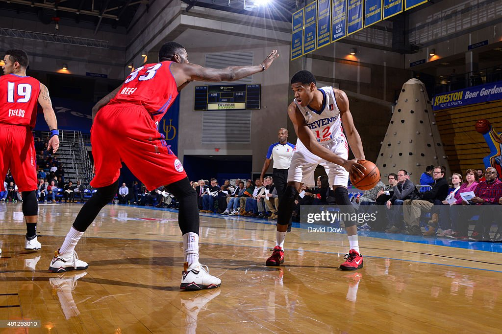 Ronald Roberts of the Delaware 87ers shoots against the Grand Rapids Drive at the Bob Carpenter Center in Newark Delaware NOTE TO USER User expressly...