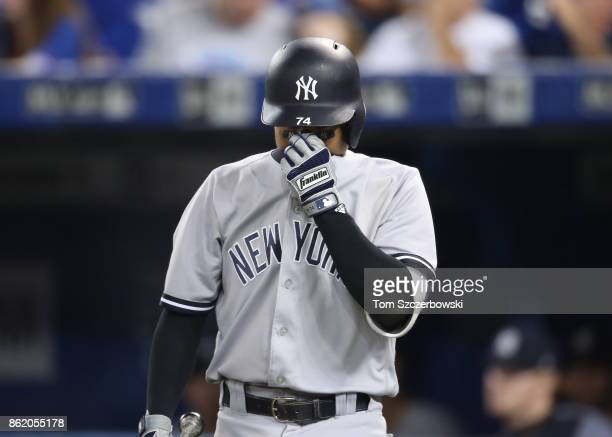 Ronald Torreyes of the New York Yankees during his at bat in the sixth inning during MLB game action against the Toronto Blue Jays at Rogers Centre...