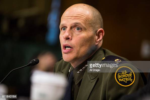 STATES FEB 23 Ronald Vitiello Deputy Chief of the US Border Patrol at the US Customs and Border Protection speaks during a Senate Judiciary Committee...
