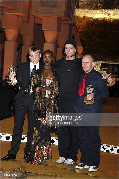 Ronald Zeherfeld on the left and Fatou N Diaye in Marrakech Morocco on December 09 2006
