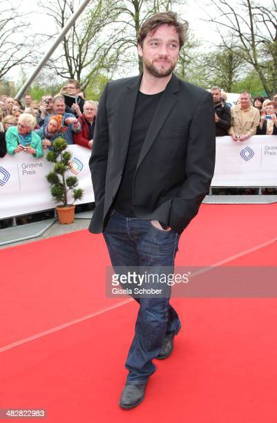 Ronald Zehrfeld attends the 50th Grimme Award at Theater der Stadt Marl on April 4 2014 in Marl Germany