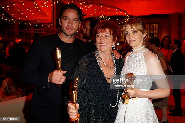 Ronald Zehrfeld Regina Ziegler and Laura Tonka during the Lola German Film Award 2016 on May 27 2016 in Berlin Germany
