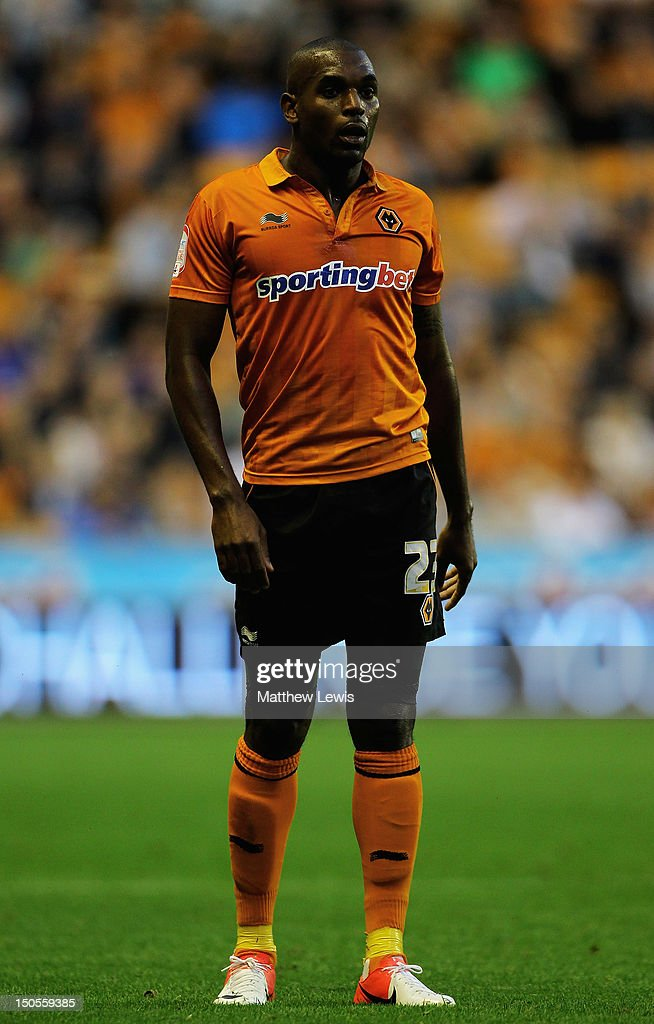 <a gi-track='captionPersonalityLinkClicked' href=/galleries/search?phrase=Ronald+Zubar&family=editorial&specificpeople=1295892 ng-click='$event.stopPropagation()'>Ronald Zubar</a> of Wolverhampton Wanderers in action during the npower Championship match between Wolverhampton Wanderers and Barnsley at Molineux on August 21, 2012 in Wolverhampton, England.