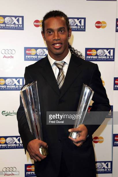 Ronaldinho during FIFPRO World XI Player Awards at Wembley Conference Centre in London Great Britain