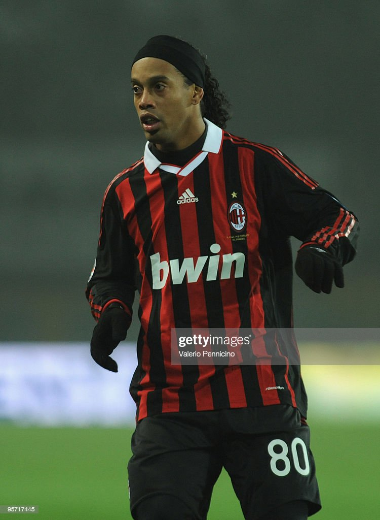 Ronaldinho of AC Milan looks on during the Serie A match between Juventus FC and AC Milan at Stadio Olimpico di Torino on January 10, 2010 in Turin, Italy.