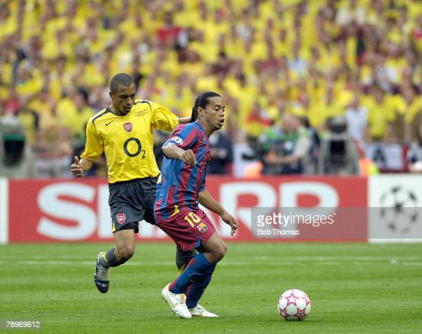 Sport Football UEFA Champions League Final Paris 17th May 2006 Barcelona 2 v Arsenal 1 Barcelona's Ronaldinho