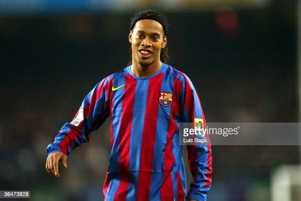 Ronaldinho of FC Barcelona during La Liga match between FC Barcelona and Celta on December 20 2005 at the Camp Nou stadium in Barcelona Spain