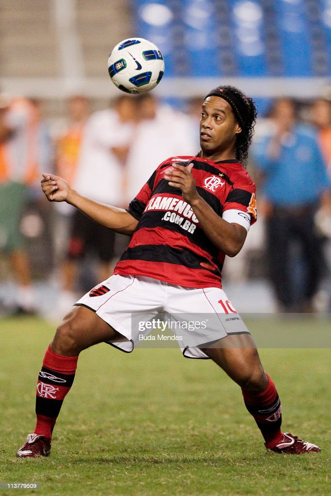 Ronaldinho of Flamengo struggles for the ball during a match as part of Brazil Cup 2011 at Engenhao stadium on May 05 2011 in Rio de Janeiro Brazil