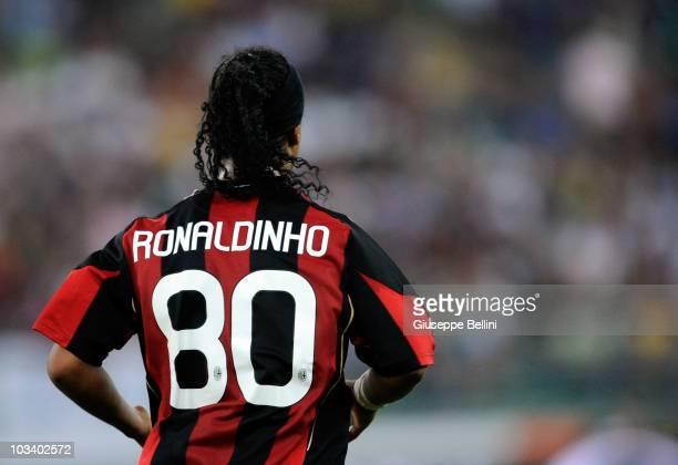 Ronaldinho of Milan during the TIM preseason tournament at Stadio San Nicola on August 13 2010 in Bari Italy