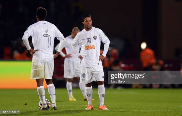 Ronaldinho of Mineiro looks dejected during the FIFA Club World Cup Semi Final match between Raja Casablanca and Atletico Mineiro at Marrakech...