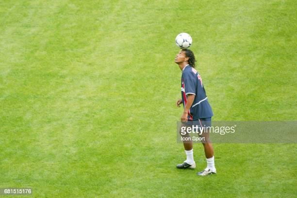 Ronaldinho of Paris Saint Germain during a training session of Paris Saint Germain in Camp des Loges Saint Germain en Laye France on 27th July 2002