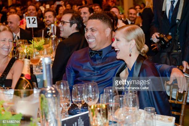 Ronaldo and Celina Locks attends the 7th Annual amfAR Inspiration Gala on April 27 2017 in Sao Paulo Brazil