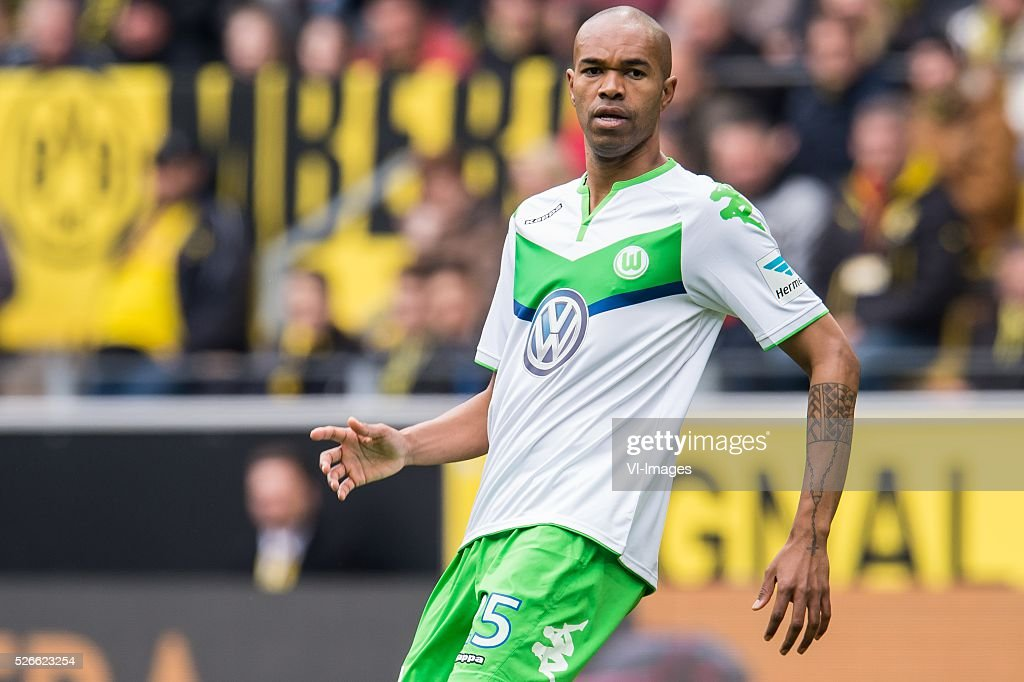 Ronaldo Aparecido Rodrigues (Naldo) of VFL Wolfsburg during the Bundesliga match between Borussia Dortmund and VfL Wolfsburg on April 30, 2016 at the Signal Idun Park stadium in Dortmund, Germany.