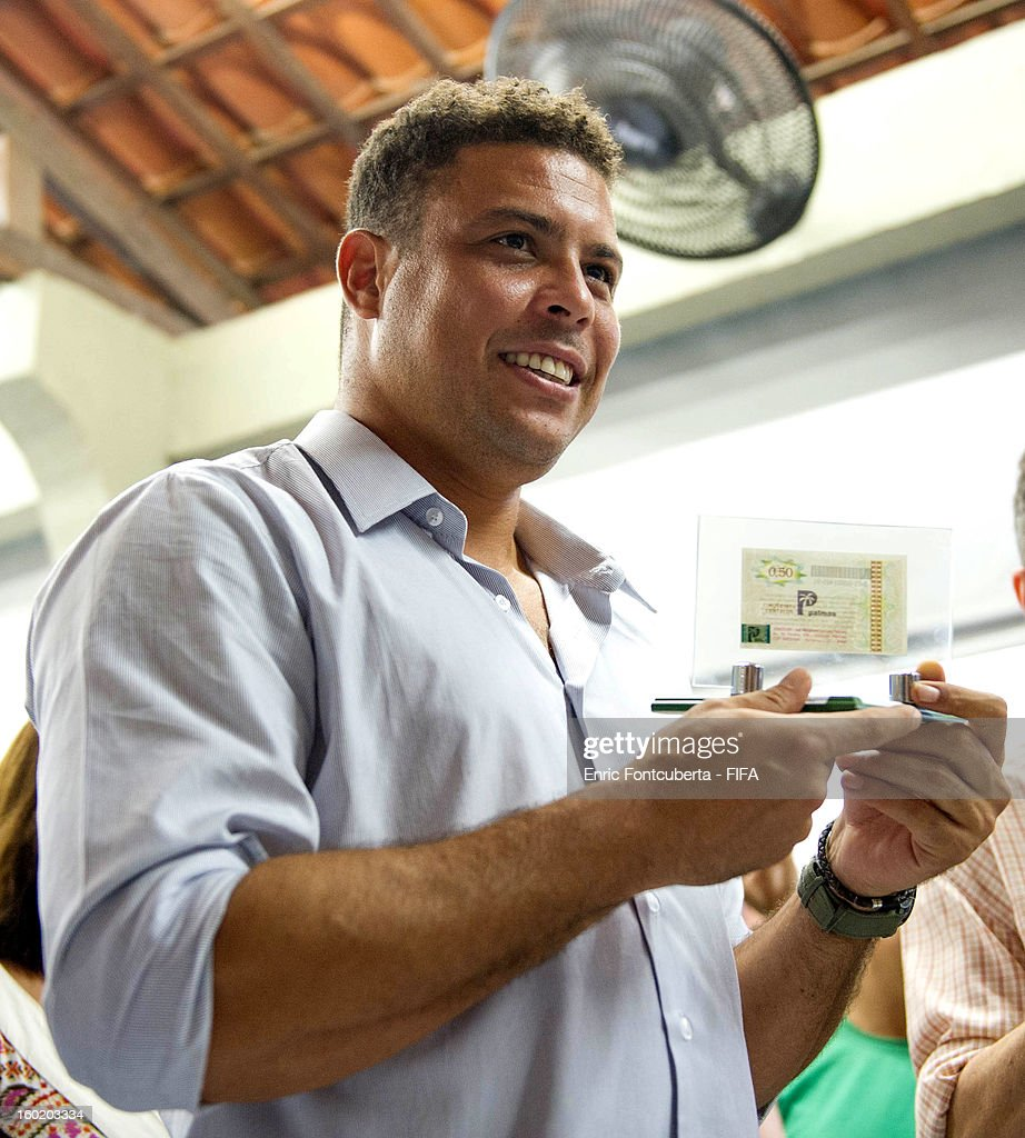 Ronaldo attends the Fenomeno Foundation during the 2014 FIFA World Cup Host City Tour on January 27, 2013 in Fortaleza, State of Ceara, Brazil.